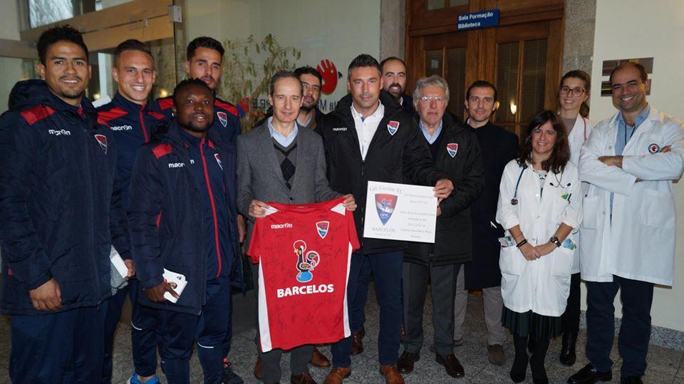 imagem do post do Atletas do Gil Vicente visitaram o HSMM